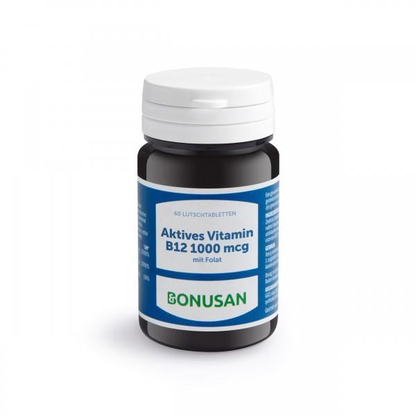 Vitamin B12 aktiv 1000mcg   Lutschtabletten 60 Stk.
