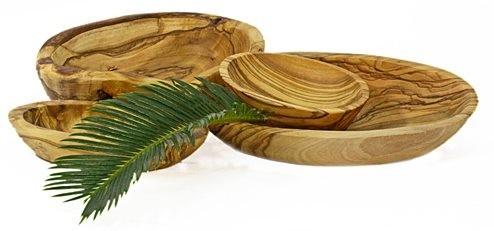 Seifenschale aus Olivenholz 11-13 cm