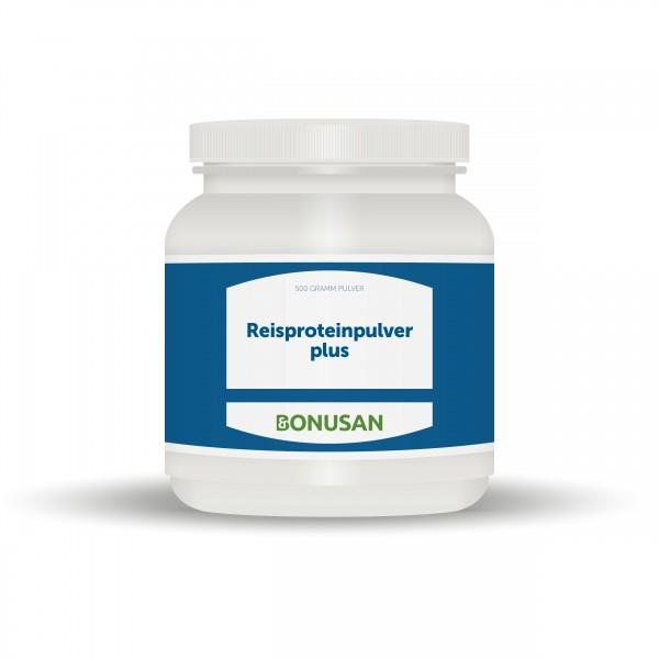 Proteinpulver plus Reisprotein (rein pflanzlich) 500g Pulver