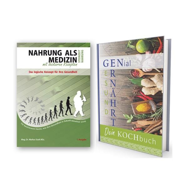 "Bücher-Paket ""Nahrung als Medizin"" und Kochbuch ""GENial ernährt"""