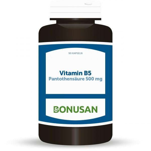 Vitamin B5 Pantothensäure 500mg | Kapseln 90 Stk.