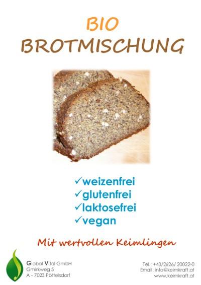 Brotbackmischung mit wertvollen Keimlingen