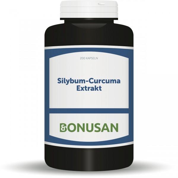 Silybum Curcuma(Mariendistel-Curcuma) Extrakt 200Stk, Leber und Galle, Naturesan Nahrungsergänzungsmittel