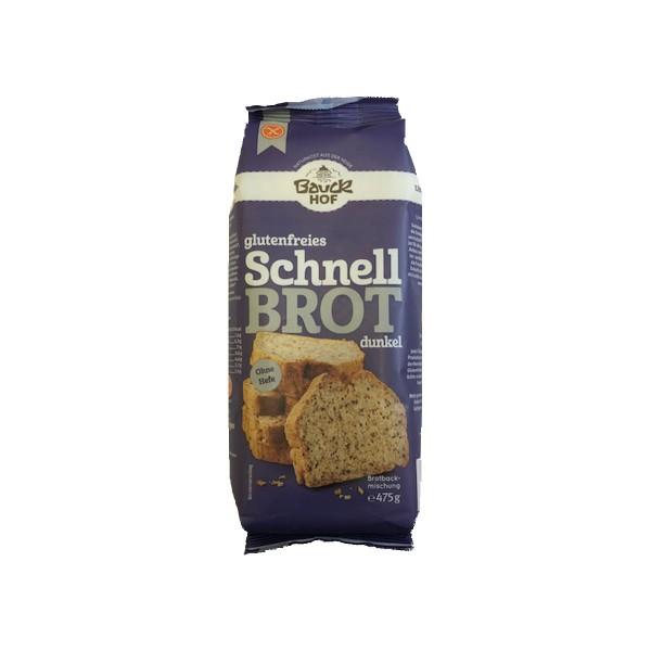Schnell Brot-Backmischung dunkel 475g