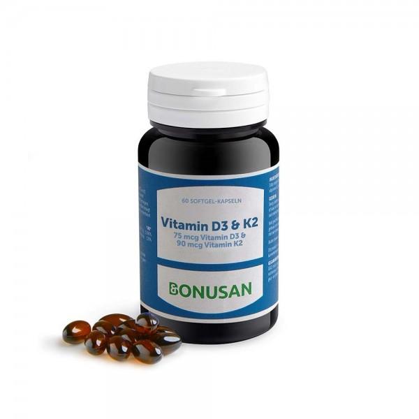 Vitamin D3 & K2 | Softgel-Kapseln 60 Stück
